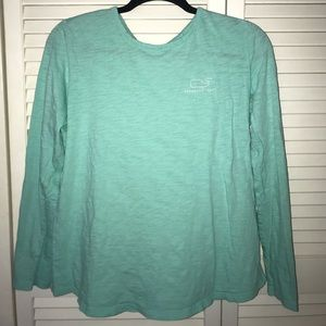 Vineyard Vines Long-Sleeve Whale Print Tee